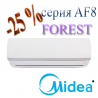 Midea AF8-24N1C2-I /AF8-24N1C2-O (2020) кондиционер серии Forest DC inverter до 70 кв.м.